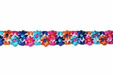 "Unotrim 7/8"" Multi-color Sheer Organza Flower Embroidered Lace Trim by Yardage"