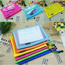 New Hot Stationery Pouch Mesh A4 Document Bag Candy Color Office Organizer Cases