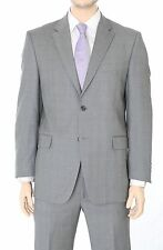 Jones NY Classic Fit Gray Glen Plaid Two Button Worsted Wool Suit