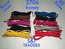 ROUND / OVAL SHOE LACES 5mm WIDE 13 COLOURS SHOE TRAINER BOOT LACES 7 LENGHTS