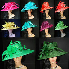 NEW LADIES WEDDING OCCASION FORMAL HATS MOTHER OF THE BRIDE ASSORTED COLORS
