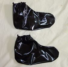 PVC Adult Baby Booties Shoes Boots Roleplay Black, Clear Plastic / Vinyl S/M