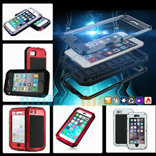 Snow/Shockproof Aluminum Metal Gorilla Glass Case for Apple iPhone 5C 4/4S 5/5S
