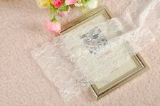 Soft White Floral Lace Fabric Wedding Party Home Table Runner Cloth Decorations