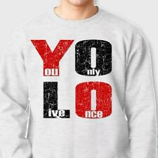 YOLO You Only Live Once T-shirt Drake Motto cool The Weeknd Crew Neck Sweatshirt