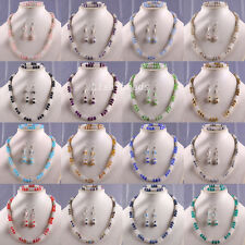 Mixed Free Shipping Crystal Faceted Beads Necklace Bracelet Earrings Sets
