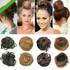 GOUS Lady Girl Clip-on Dish Hair Bun Extension Hairpiece Scrunchie Tray Ponytail