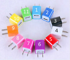 11 Color Mini USB AC Wall Charger Power Adapter For Iphone 5 5S 4S Ipod US Plug