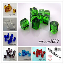 Free 200pcs Glass CRYSTAL Square CUBE BEADS Dream Beads 4x4mm 8 Color U pick