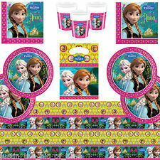 Disney FROZEN Princess Girls Party Package CLASSIC KIT Plate Cup Napkins Job Lot