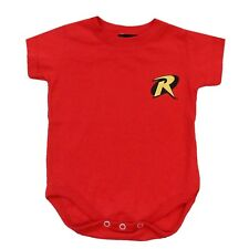Batman Robin Classic Logo Symbol Licensed DC Comics Baby Infant Snapsuit
