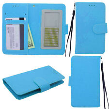 BRILLIANT Teal Universal Wallet Phone Case Pouch Flip Cover For ZTE