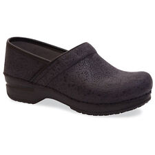 Dansko Ladies Professional XP Nubuck Leather Clog - black lace