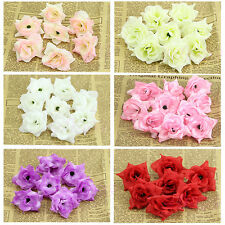 50PCS 1.75 Roses Artificial Silk Flower Heads Wholesale Lots For Clips Wedding