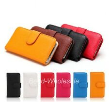1pc Women's Wallet Flip Leather Stand Cover Mobile Phone Case for iPhone 4/4S