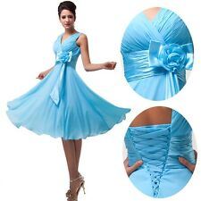 ❤ON SALE❤V-Neck Chiffon Ball Evening Prom Party Dress Wedding Bridesmaid Dresses