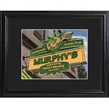 Irish Pub Man Cave Bar Sign Personalized Custom Print Framed 23x19""
