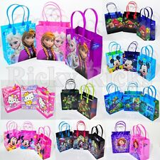 12 Frozen Favor Bags Party Hello Kitty Mickey Goodie Candy Loot Anna Tote Gifts