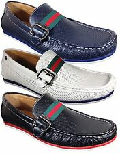 Men Brixton New Leather Driving Casual Shoes Moccasins Slip On Loafers Mainz01