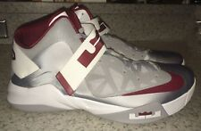NEW Mens 17.5 NIKE LeBron Zoom Soldier VI Basketball Shoes Sneaker Silver Maroon
