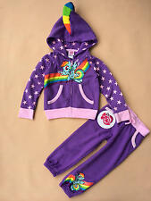 Little pony kids girls baby 2pcs Outfits Cloth Sweatshirt Hoodie+Trousers 12M-5T