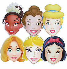 DISNEY PRINCESS - PARTY FACE MASKS - 6 TO CHOOSE + MULTIPACK - FREE SHIPPING!!
