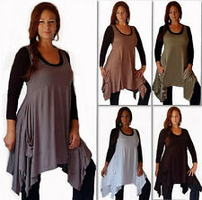 @F517 VEST TOP JUMPER LAYERING POCKETS ASYM DRIP SIDES PRETTY STYLE MADE 2 ORDER
