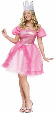Glinda Good Witch Adult Womens Costume Pink Gown Princess Theme Party Halloween