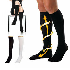 Varicose Vein Stocking Running Sports Knee High Relief Support Compression Socks