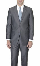 Renoir Classic Fit Charcoal Gray Textured Two Button Two Vent Suit