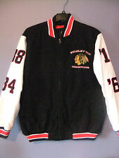 Chicago Blackhawks letterman jacket coat championship Stanley Cup NWT- (M-2XL)