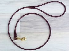 Premium Round Leather Dog Show CLIP Leads  Handmade by KORBELL LEADS
