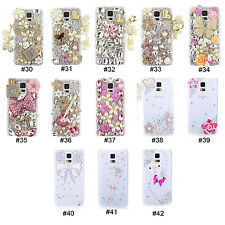Cute Bling 3D Rhinestone Style Hard Back Case Cover For Samsung Galaxy S5 i9600