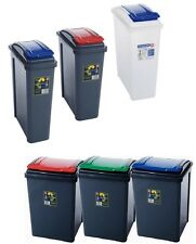 PLASTIC 25 50L RECYCLE BIN DUSTBIN GARDEN WASTE RUBBISH & KITCHEN RECYCLING BIN