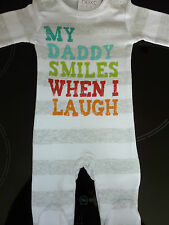 NEXT 'MY DADDY SMILES WHEN I LAUGH' Sleepsuit NWT