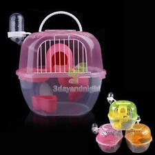 New 2 Level Clear Plastic Hamster Gerbil Mouse House Cage Playhouse Nest NIGH