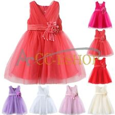 Flower Girls Pageant Wedding Bridesmaid Birthday Party Princess Dress Size 1-10