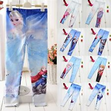 1 PCS Girls Frozen Anna Elsa Skinny Digital Printing Leggings Pants Trousers