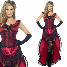 Ladies Saloon Girl Fancy Dress Costume / Sexy Western Burlesque Brothel Outfit