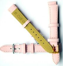 Pink Genuine Real Leather Watch Strap Band Size 6mm-24mm Ladies New