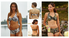 NEW ITEMS! CAMOUFLAGE HALTER SWIM TOPS AND CHOICE OF BOTTOMS