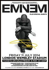 EMINEM London Wembley Stadium 2014 SIGNED Autographed PHOTO Print POSTER MMLP2 7