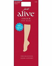 Hanes Alive Full Support Sheer Knee Highs 2-Pack - style 0A446
