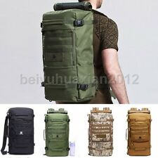 50L Waterproof Military Outdoor Tactical Camping Hiking Backpack Daypack Bag