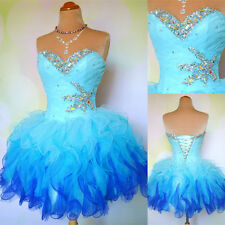 Fashion Middle School Students Homecoming Party Gowns Blue A-Line Cocktail Dress