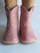 Toddler Boots - Squeaky Boots - Light Pink Cowgirl Boots, Up to Toddler Size 7