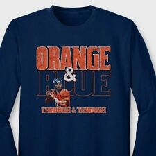 ORANGE AND BLUE Through and Through T-shirt Broncos Manning Long Sleeve Tee