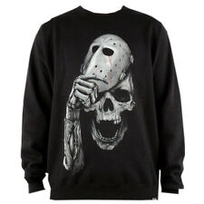 Rook Face Mask Crewneck Men's Fleece Sweatshirt Black