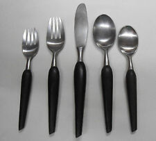GRENADIER Forged  ~CHOICE PIECE ~~ Stainless Flatware Danish Modern Black Handle