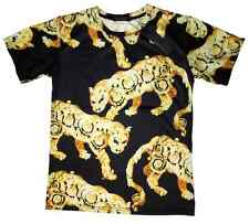Brand New Authentic Versace T-Shirt With Gold Tiger Baroque Elements M,L
